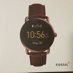 Fossil Q Wander Smartwatch Gen 2 Wine Leather